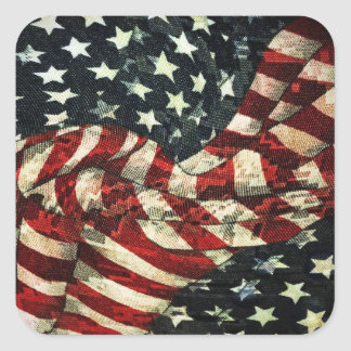 AmerikanFlagga-Kamouflage av Shirley Taylor Fyrkantigt Klistermärke