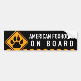 AmerikanFoxhound ombord Bildekal