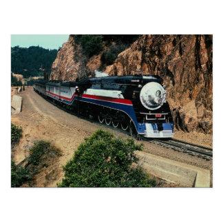 Amerikanfrihetståg 4449 på uddhornen, Californ Vykort