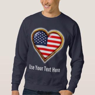 Amerikanhjärta Långärmad Tröja