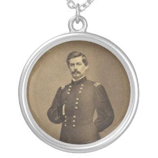 AmerikaninbördeskrigGeneral George B McClellan Silverpläterat Halsband