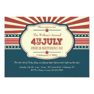 Amerikanindependence dayinbjudan 12,7 x 17,8 cm inbjudningskort