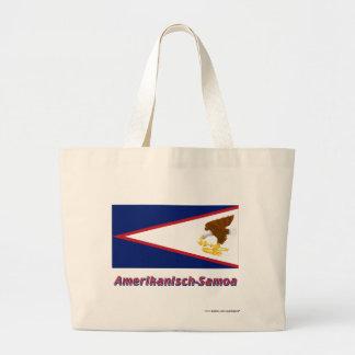 Amerikanisch-Samoa Flagge mit Namen Kassar