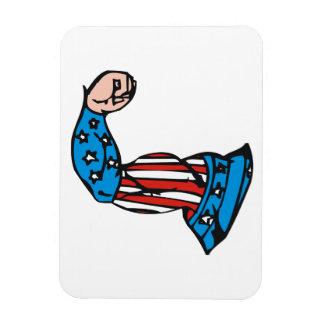 Amerikanmuskel Rektangulär Magnet