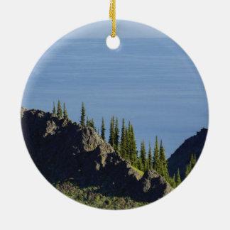 Amerikannationalparker landskap landmarkfoto julgransprydnad keramik