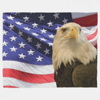 Amerikanörn- och flaggaullfilt