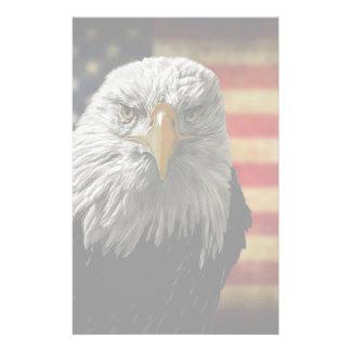 Amerikanörn på Grungeflagga Brevpapper