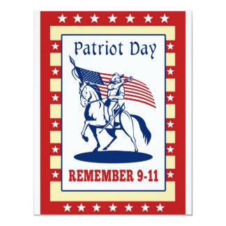 Amerikanpatriotdagen minns kortet för hälsning 911 10,8 x 14 cm inbjudningskort