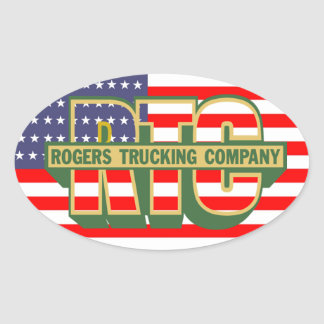 AmerikanprideRogers transportföretag Ovalt Klistermärke