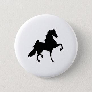 AmerikanSaddlebred häst Standard Knapp Rund 5.7 Cm