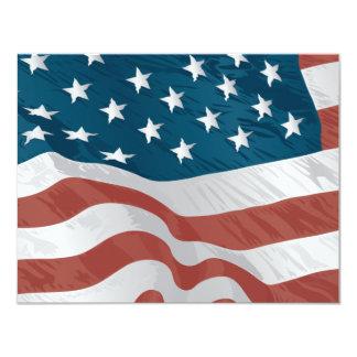 Amerikanska flaggan 10,8 x 14 cm inbjudningskort