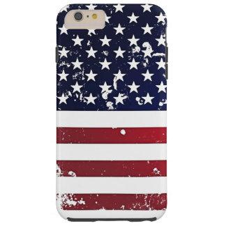Amerikanska flaggan 2 tough iPhone 6 plus skal