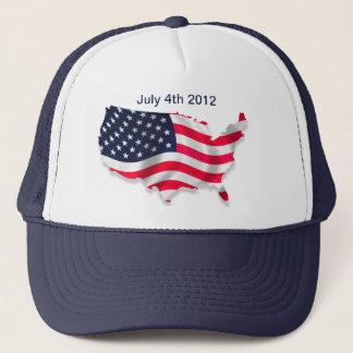 Amerikanska flaggan 4th av den Juli hatten Keps
