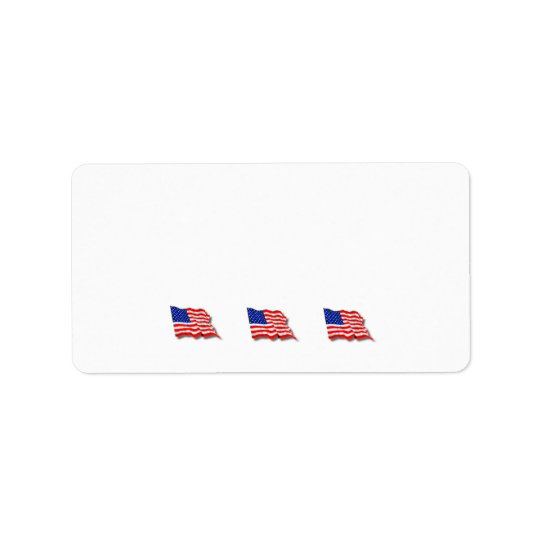 Amerikanska flaggan adressetikett