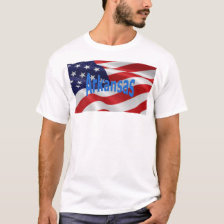 Amerikanska flaggan Arkansas T Shirts