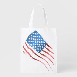 Amerikanska flaggan återanvändbar påse