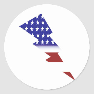 Amerikanska flaggan - blixt formar runt klistermärke