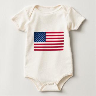Amerikanska flaggan body för baby