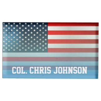 Amerikanska flaggan bordskorthållare