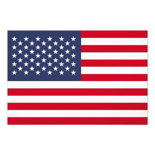 Amerikanska flaggan fotografiskt tryck
