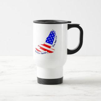 Amerikanska flaggan - frigör efter travel mug 1776 rostfritt stål resemugg