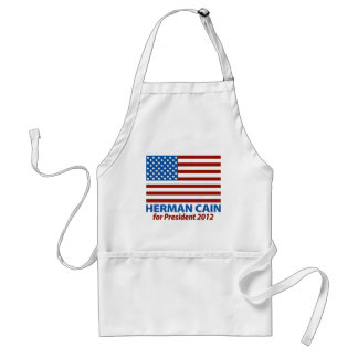 Amerikanska flaggan Herman Cain för presidenten 20 Förkläde