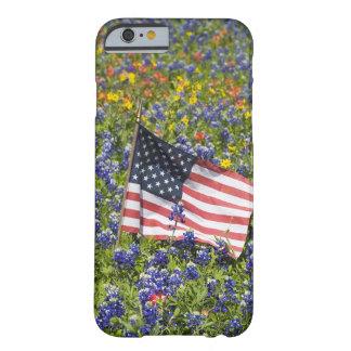 Amerikanska flaggan i fält av blåtthättor, barely there iPhone 6 fodral