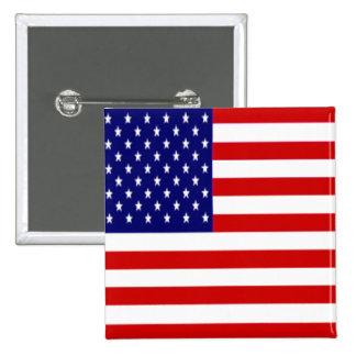 Amerikanska flaggan knäppas emblem standard kanpp fyrkantig 5.1 cm