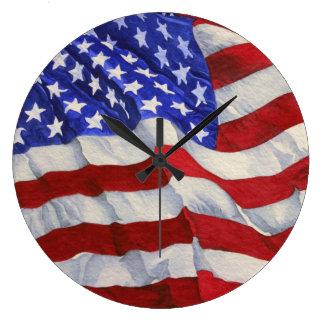 Amerikanska flaggan - kontoret tar tid på stor klocka