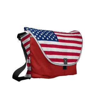 Amerikanska flaggan kurir väskor