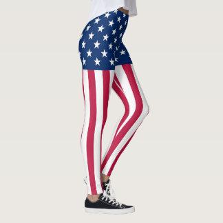 Amerikanska flaggan leggings