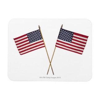 Amerikanska flaggan magnet