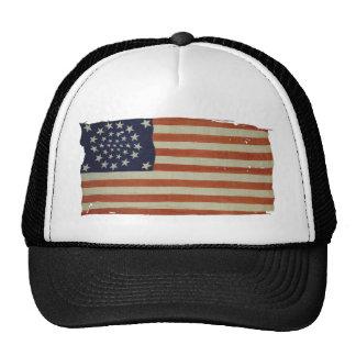 Amerikanska flaggan med 34 stjärnor trucker keps