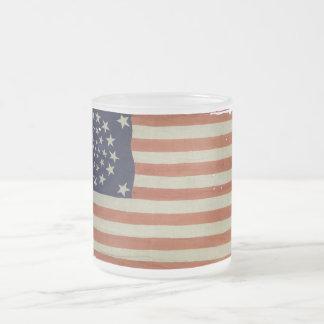 Amerikanska flaggan med 34 stjärnor kaffe mugg
