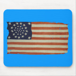 Amerikanska flaggan med 34 stjärnor musmattor