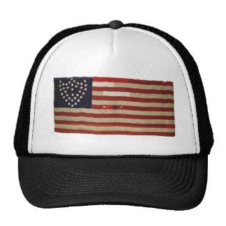 Amerikanska flaggan med 36 stjärnor keps