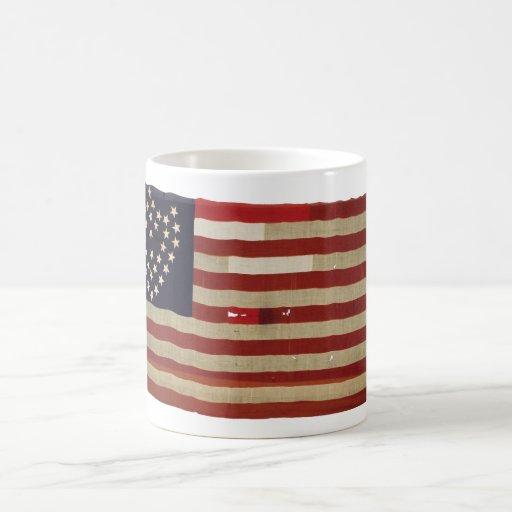 Amerikanska flaggan med 36 stjärnor kaffe kopp