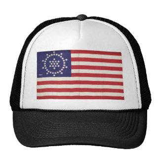 Amerikanska flaggan med 48 stjärnor Whipple Trucker Kepsar