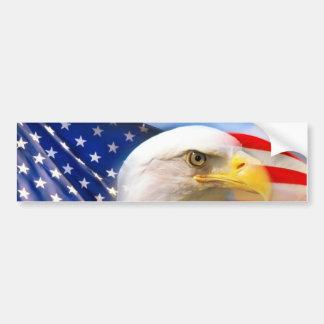 Amerikanska flaggan med örnen bildekal