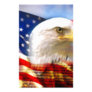 Amerikanska flaggan med örnen brevpapper