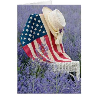 Amerikanska flaggan OBS kort