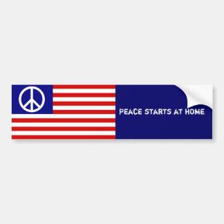 Amerikanska flaggan och fredstecken bildekal