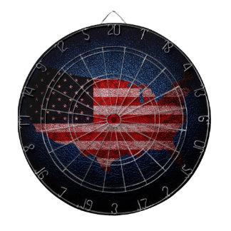 Amerikanska flaggan och karta #2 piltavla