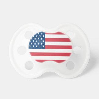 Amerikanska flaggan på en vitbakgrund napp