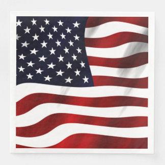 Amerikanska flaggan pappersservetter
