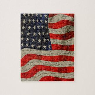 Amerikanska flaggan pussel