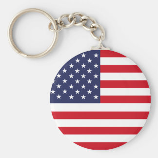 Amerikanska flaggan rund nyckelring