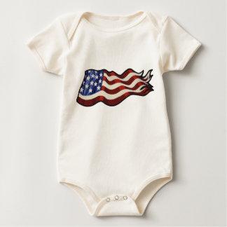 Amerikanska flaggan som vinkar babyen bodies