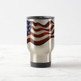 Amerikanska flaggan som vinkar den Thermo muggen Resemugg