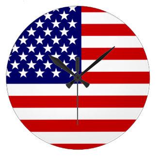 Amerikanska flaggan stor klocka